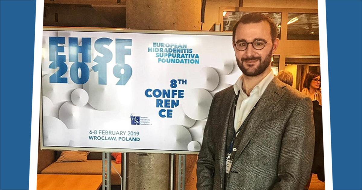 Dr. Uwe Kirschner bei der European Hidradenitis Suppurativa Foundation Konferenz 2018 in Breslau, Polen