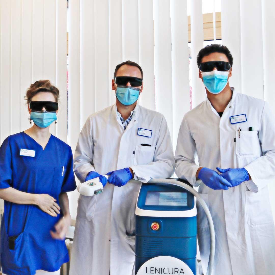 Akne inversa Experten Team des St.Marien-Krankenhauses Berlin LAight Anwender