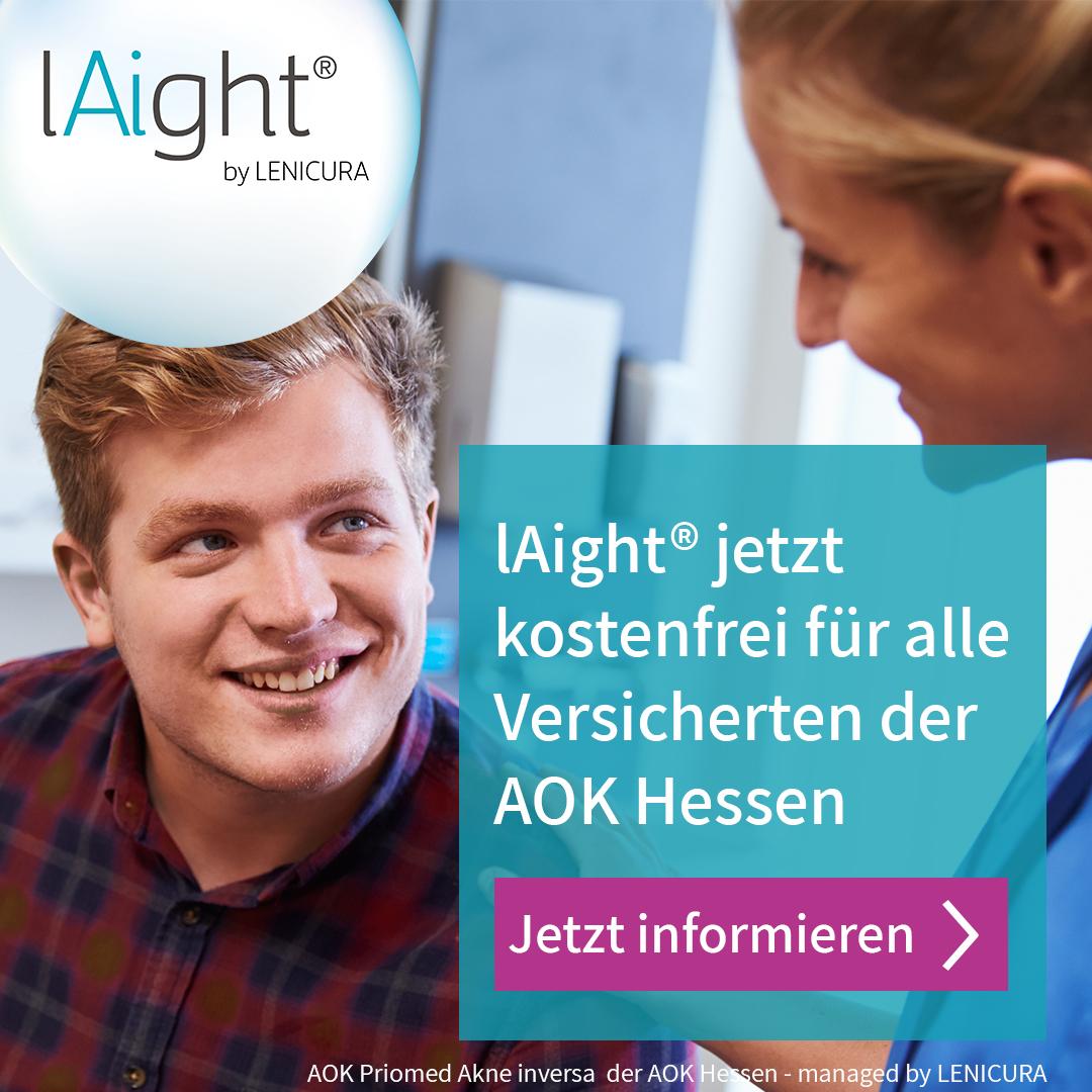 lAight® jetzt kostenfrei für alle Versicherten der AOK Hessen