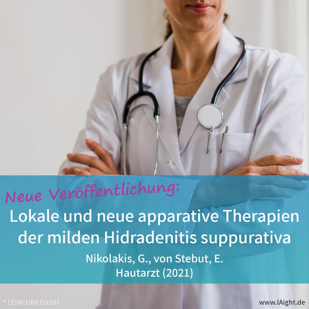 Neue Fachpublikation zu lokalen und apparativen Therapien der Akne inversa